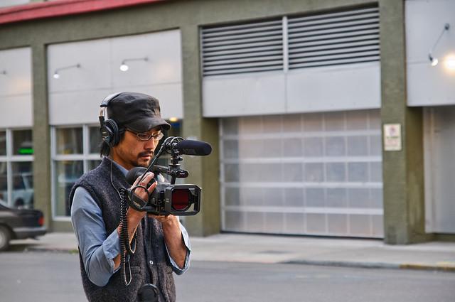Filming Street Truck