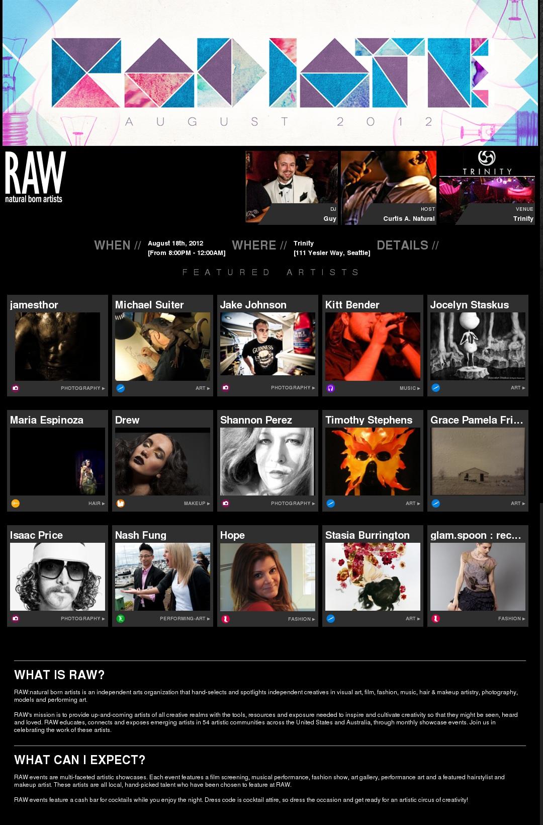 RAW Artists Showcase, Radiate