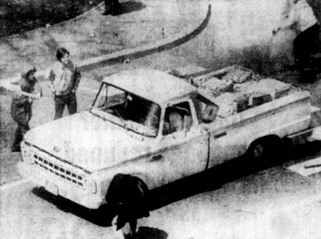 The offending truck. Photo: UPI