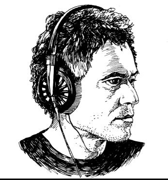 Sketch of Joe Frank by Tony Millionaire.