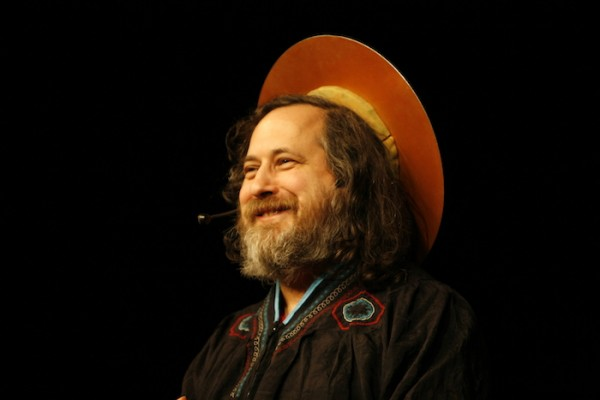 St. IGNUcius, aka Richard Stallman. Photo by Anders Brenna.