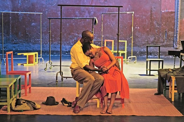 Ivanno Jeremiah and Nonhlanhla Kheswa in Peter Brook's The Suit. Photo: Pascal Victor, ArtcomArt.