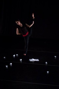 Sarah Lustbader reaches in Catherine Cabeen's TORN. Photo by Jazzy Photo.