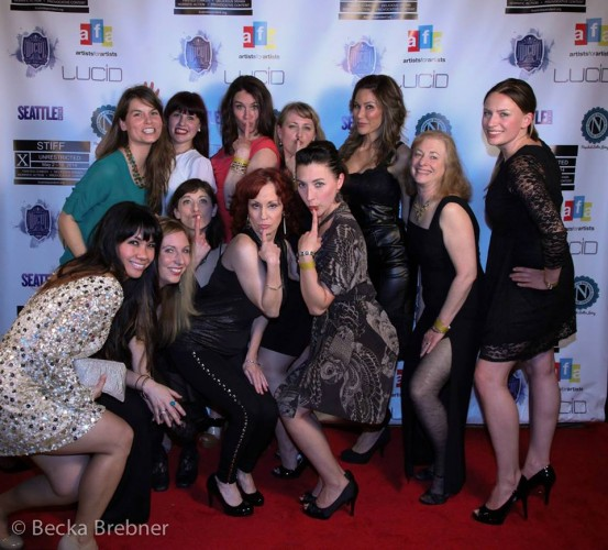 The ladies of the STIFF red carpet. Photo by Becka Brebner.