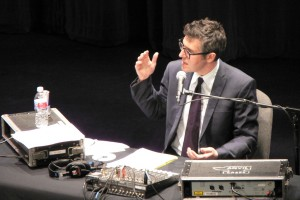 Ira Glass on stage. Photo Credit: S.C. Asher.Licensed CC-BY-NC-SA.