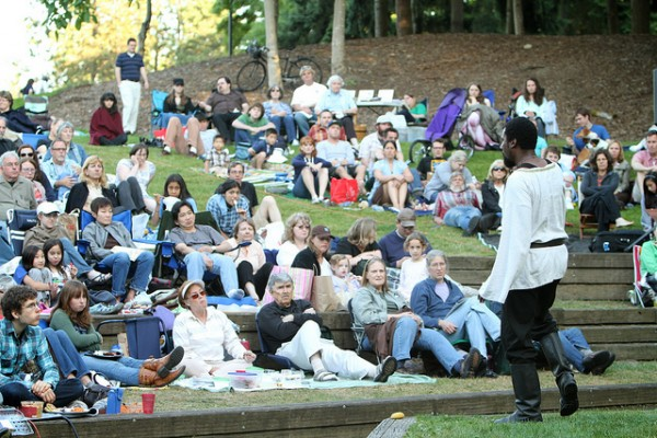 A soon to be very familiar scene. Pictured: Reginald Jackson in Wooden O's 2011 production of MACBETH. Image by Alan Alabastro.