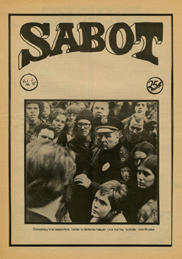 Sabot, Volume 1, Number 15, December 30, 1970, which covered the Seattle Seven trial