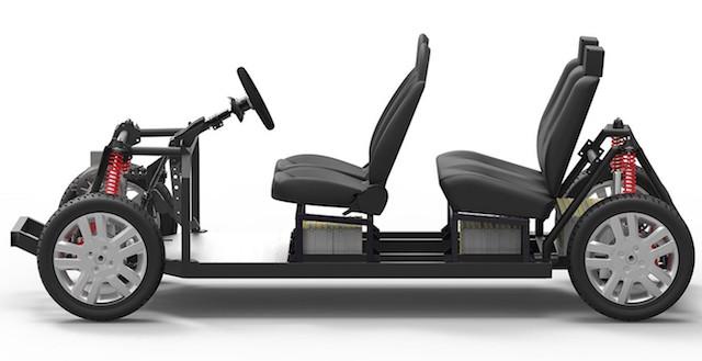 The Tabby Evo four-seater platform.