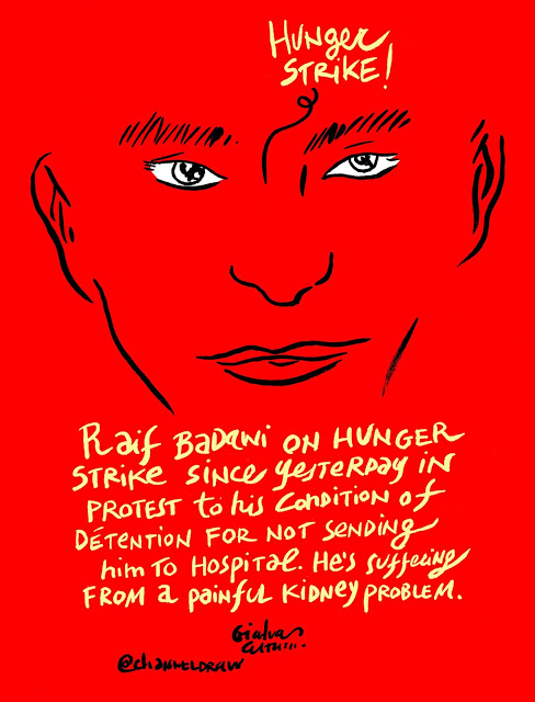 Raif-Badawi-Hunger-strike