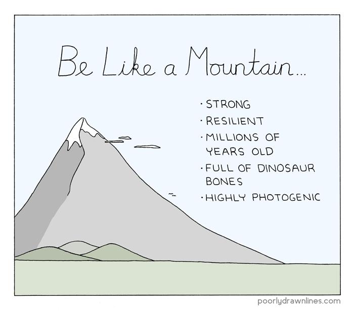 a-mountain